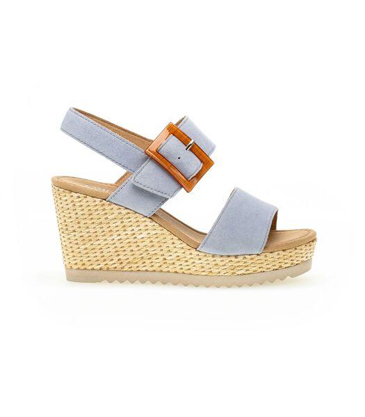 Sandalen met bovenlaag van suede