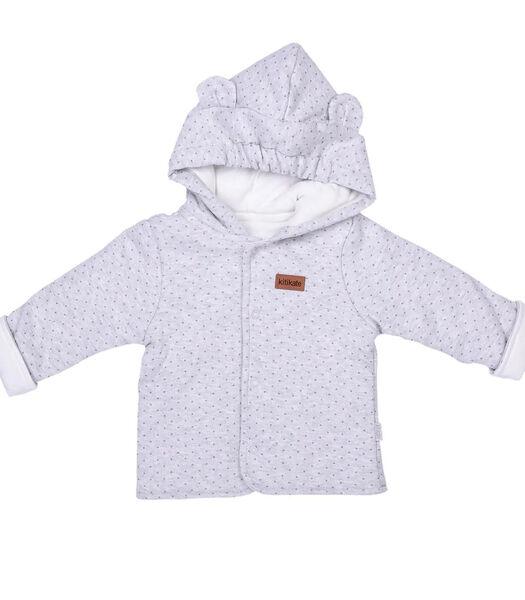 Cardigan bébé à capuche