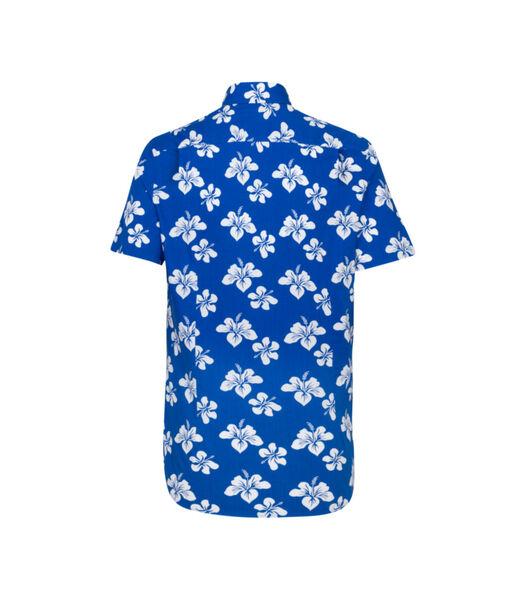 Overhemd Regular Fit Korte mouwen Bloemen