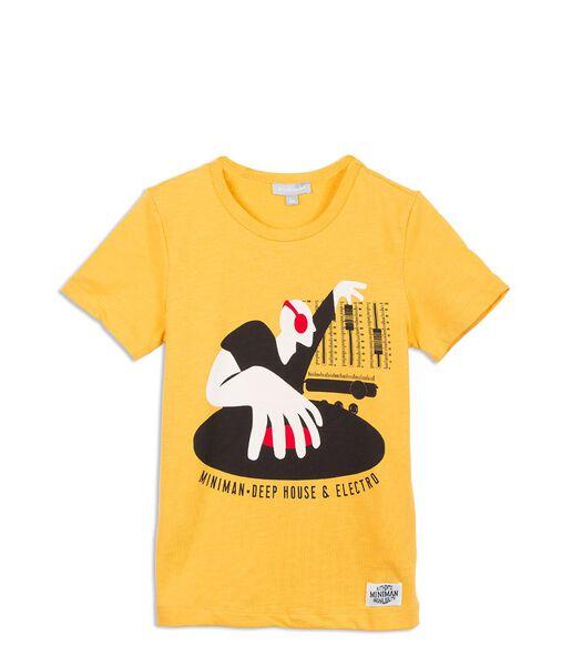 T-shirt met DJ print