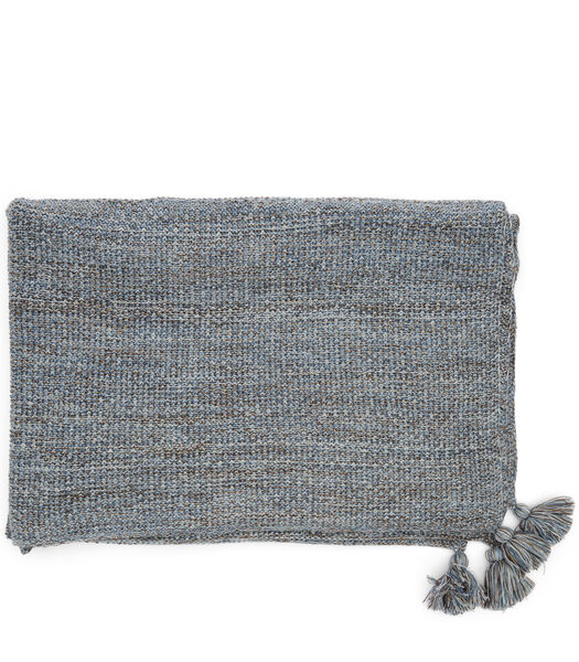 Rhythm Knitted Throw 180x130 blue