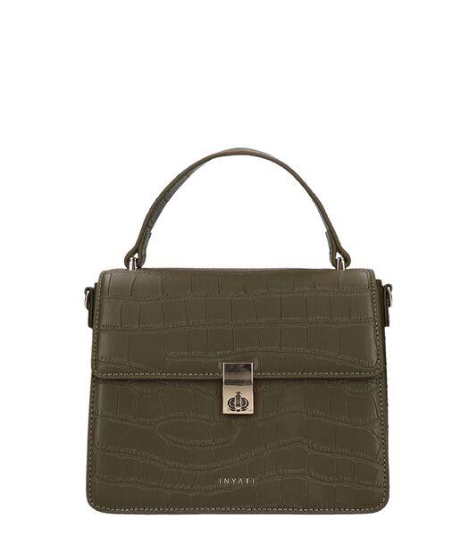 Inyati Elody Top Handle Bag olive foncé croco mat