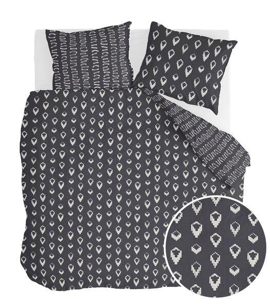 Housse de couette Remade Turned Cones Noir Coton