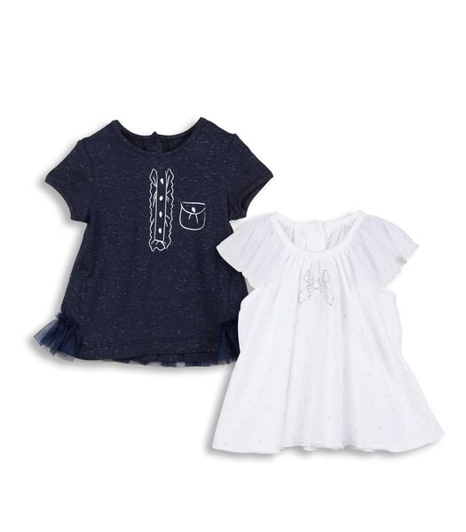 Set met 2 t-shirts met korte mouwen