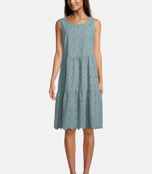Kanten jurk met rimpeling