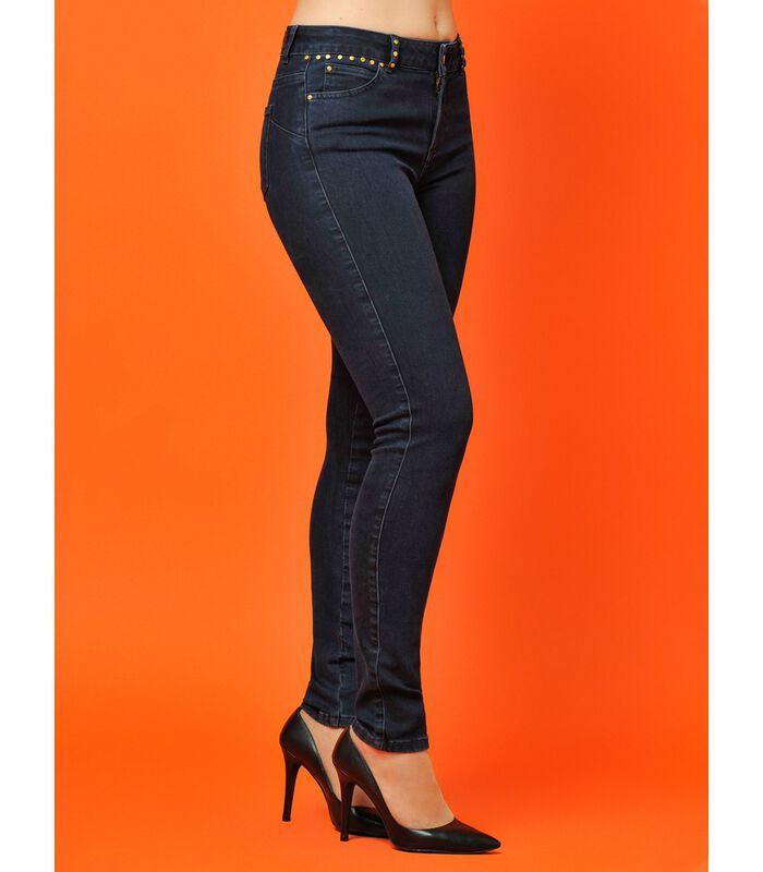 Ruwe jeans met zakken met studs ZOOM image number 2