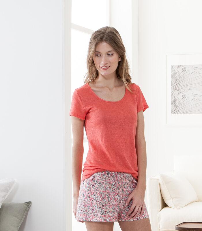 Linnen gebreid T-shirt, SARAH image number 1