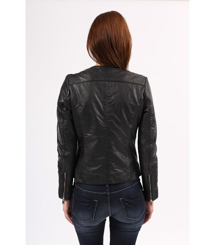 CELINE jas in schapenleer biker stijl image number 2