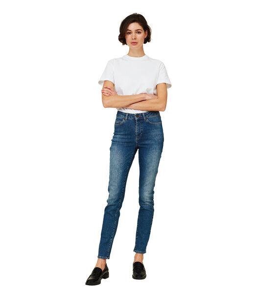 Pantalon en jean bleu Zoe