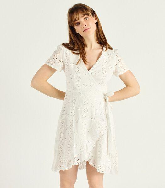 Korte jurk met korte mouwen V-hals MATTIA