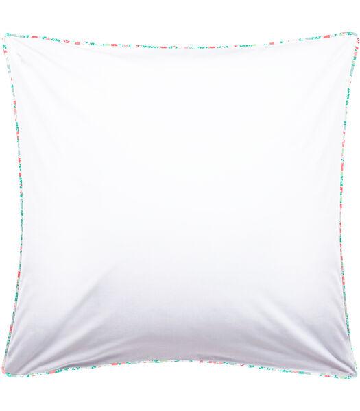 Taie d'oreiller imprimée 100% coton - CAPUCINE