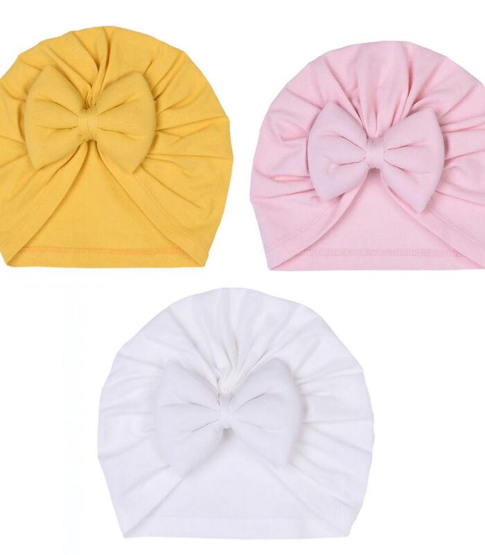 Set 3 pièces - Turban bébé en coton biologique, JADE image number 0