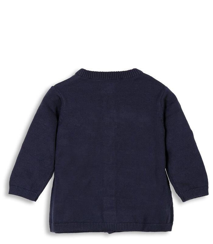 Geknoopt vest met ronde hals image number 1