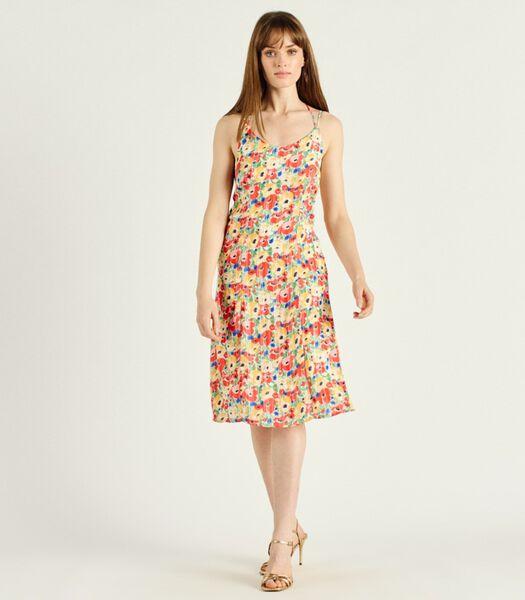 Bloemenprint lange jurk Ronde hals ARMINDA