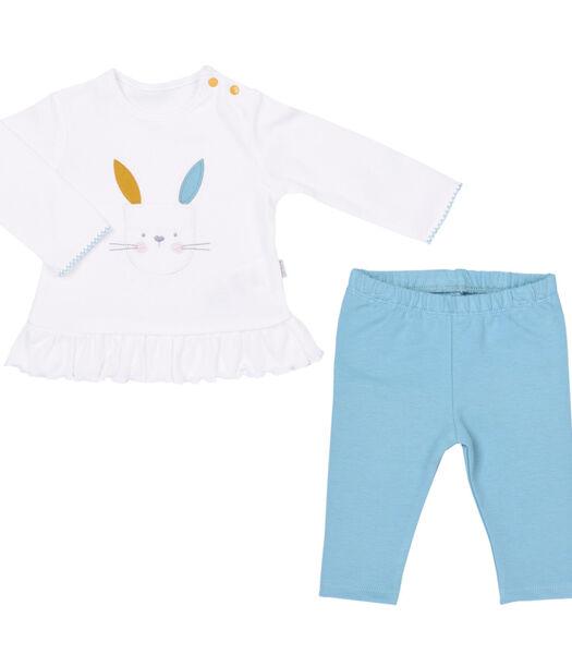 Baby 2-delige biokatoenen pyjama, LAPINOU