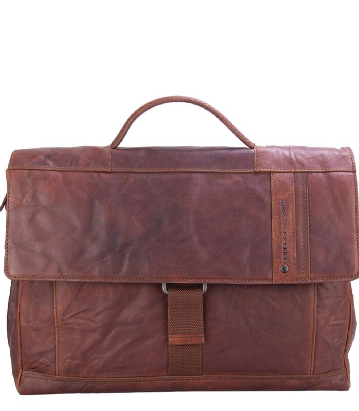 Spikes & Sparrow Bronco Briefcase brandy image number 0
