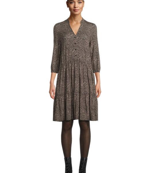 Jersey jurk met stroken