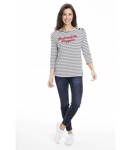 TRACY-T-shirt ronde kraag comfort
