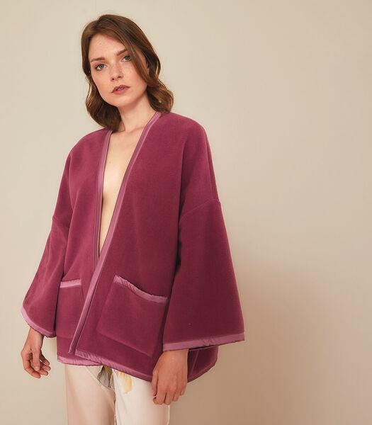 Homewear korte poncho polyester