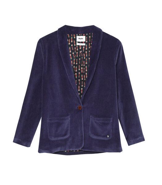 Corduroy Jacket Blue
