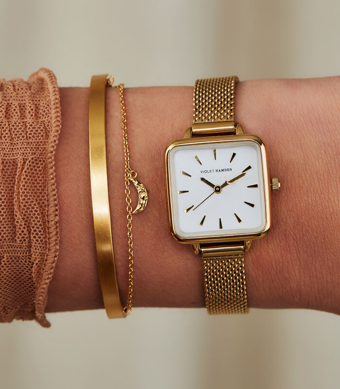 Dawn Horloge goudkleurig VH05011 image number 1