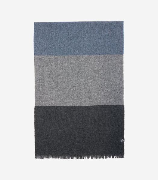 Wollen sjaal met kasjmier