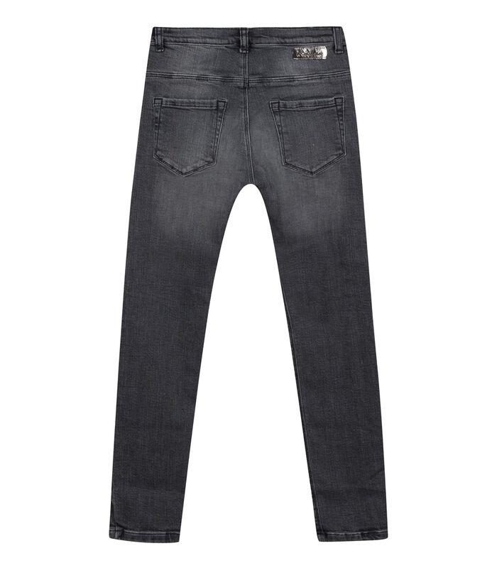 Slim jeans met glitter bloemen image number 1