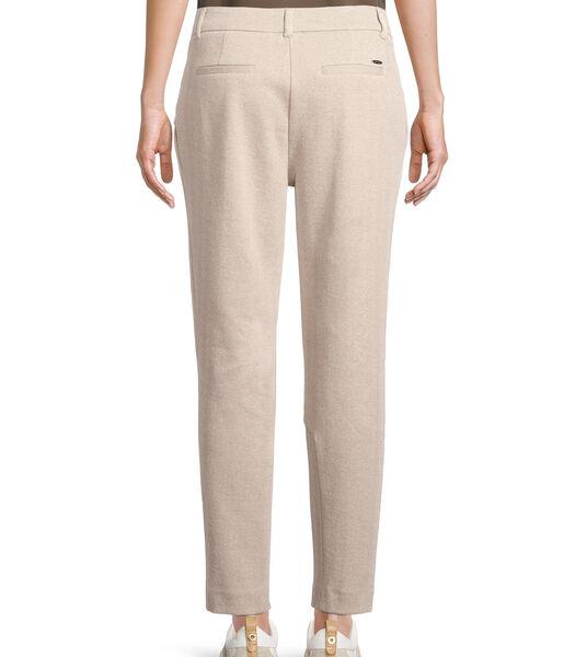 Pantalon met bandplooien