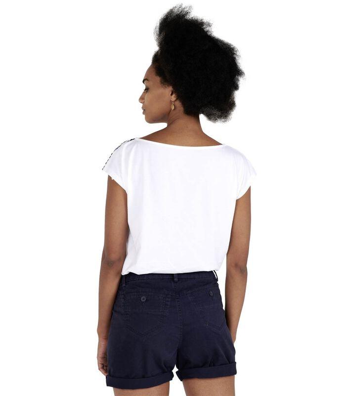 T-shirt zigzagafwerking TROPIQUE image number 2