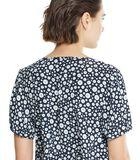 Topje met geometrische bloemenprint NASTAKI image number 3