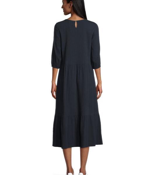 Midi-jurk met stroken