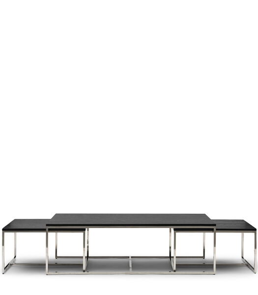 Nomad Rect Coffee Table S/3 Black