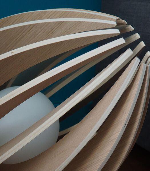 Houten design tafellamp, groot model, FEVE