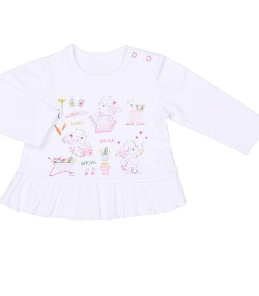 T-shirt bébé fille à manches longues - Little Garden