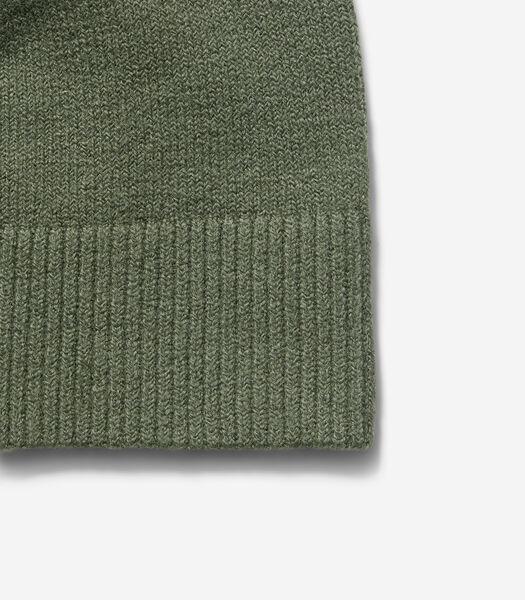 Bonnet en fin mélange de coton et de laine vierge