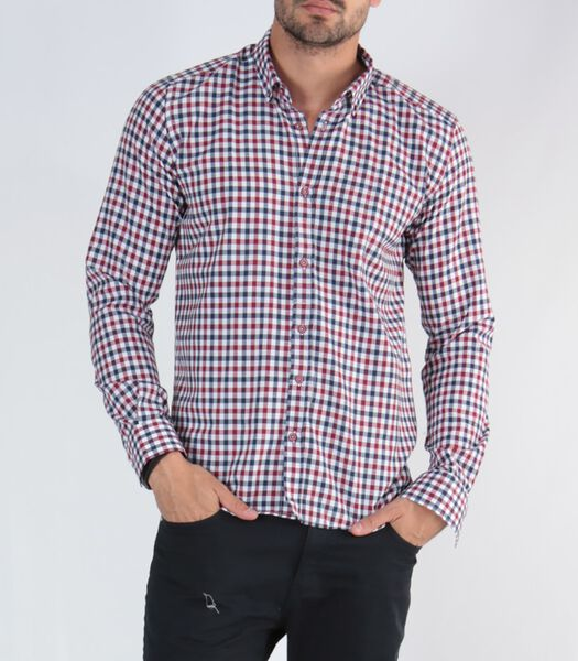 NASUS Lange Mouw Ruitjes Shirt