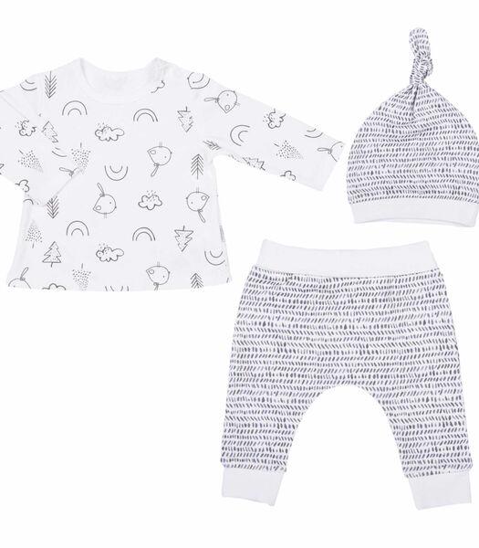 Biologisch katoenen baby kleertjes set 3 stuks - SWEET