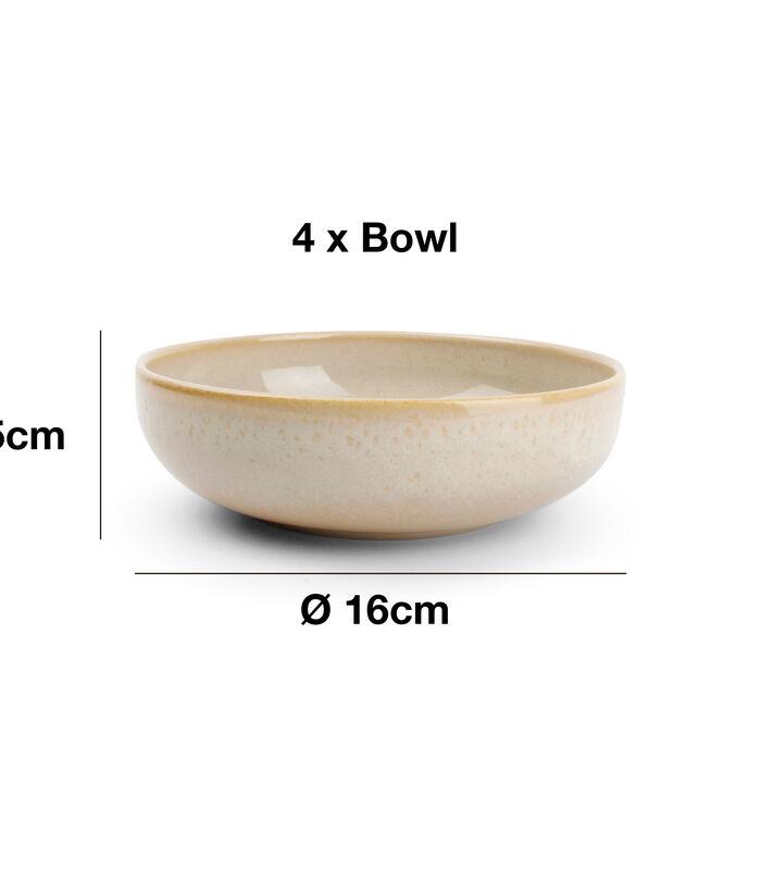 Servies 12-delig beige Tabo image number 4