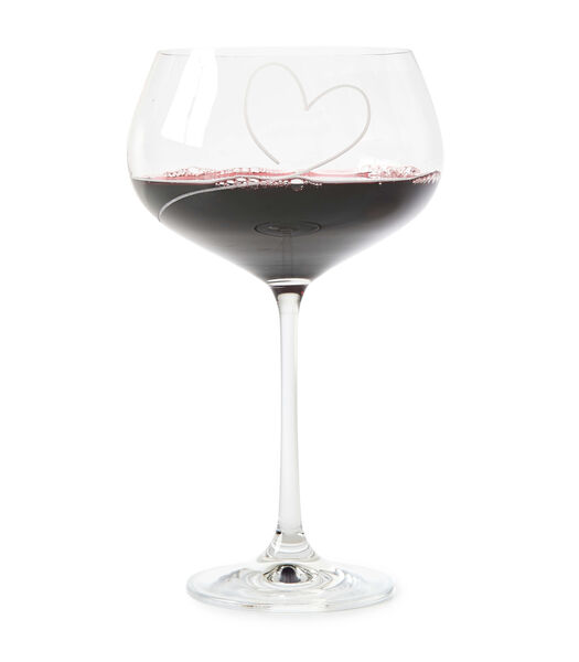 With Love Red Wine Glass