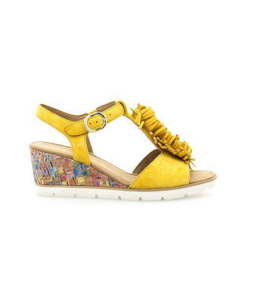 Sandales   à talon nubuck