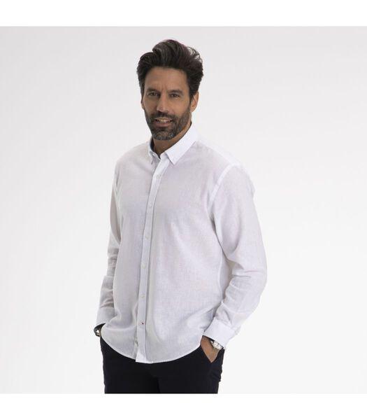 Overhemd  katoen button down kraag CAEN
