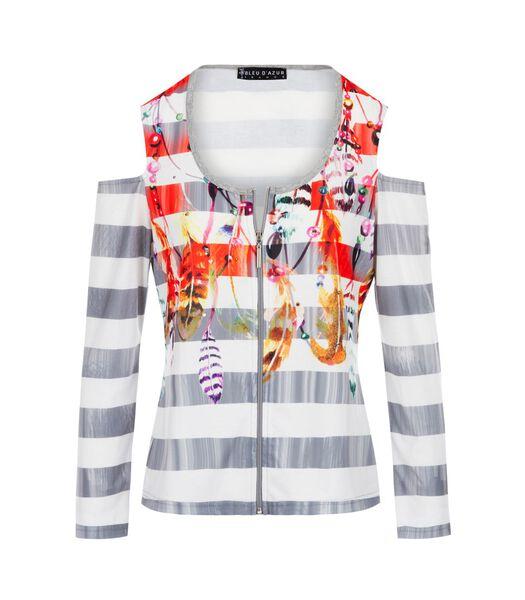 Overhemd met rits CYGNE