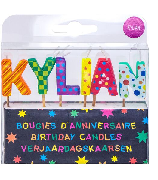 Bougies d'anniversaire prénom Kylian