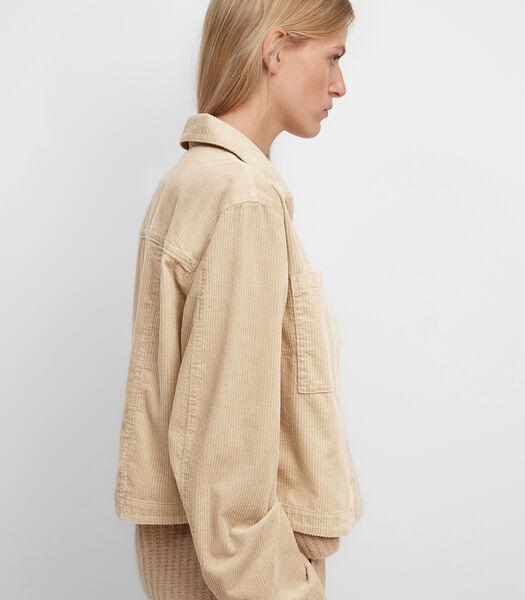 Veste d'intérieur en velours côtelé de coton biologique