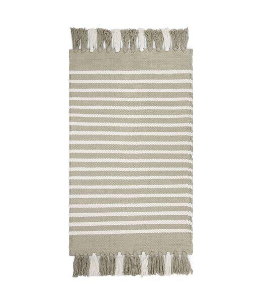 Tapis de bain Stripes & Structure Taupe