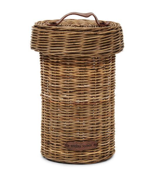 Rustic Rattan Biscuit Barrel