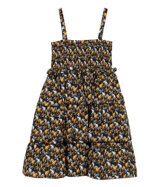 Bedrukte gesmokte jurk