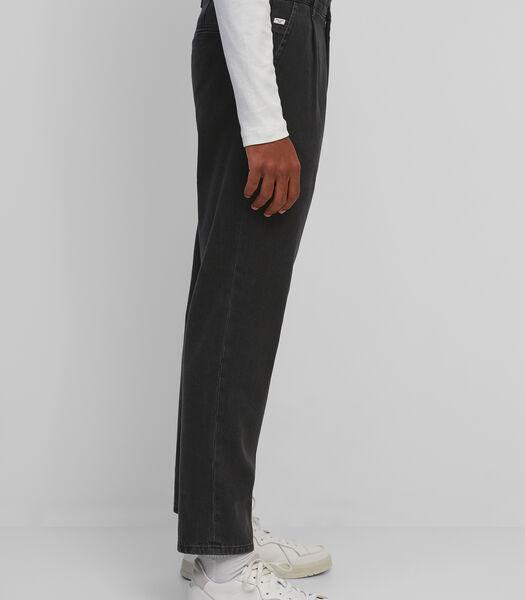 Jeans regular pleated van gerecycled katoen