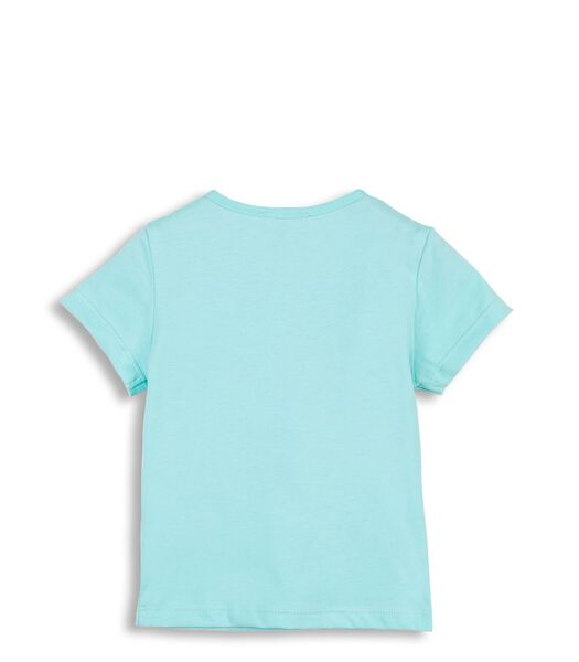 T-Shirt Turquoise avec Motif