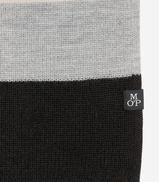 Gebreide sjaal van een extra zachte wolmix